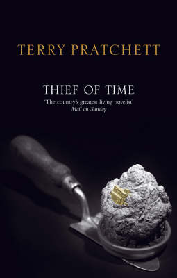 Thief of Time (Discworld - Death / History Monks) (black cover) by Terry Pratchett image