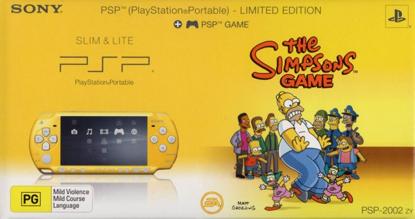 PSP Limited Edition - Simpsons Pack for PSP image