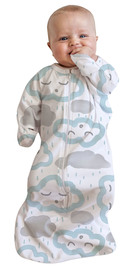 Baby Studio: Cotton All-In-One Swaddle Bag - Peppermint Clouds (3-9 Months)