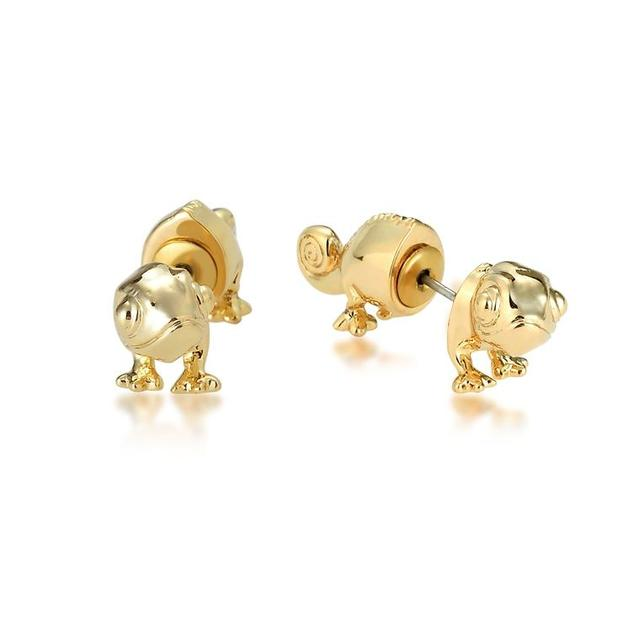 Couture Kingdom: Disney - Princess Rapunzel Pascal Earrings (Yellow Gold)