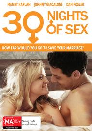 30 Nights Of Sex on DVD