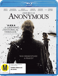 Anonymous on Blu-ray