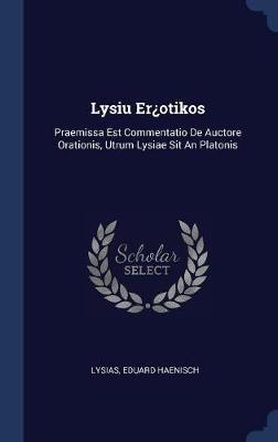 Lysiu Er�otikos by Eduard Haenisch