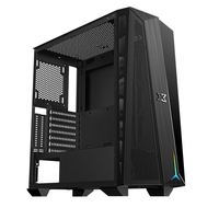 Xigmatek Cyclops Black Tempered Glass Mid Tower Case
