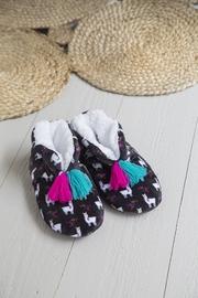 Natural Life: Cozy Slippers - Black Llama (Small)