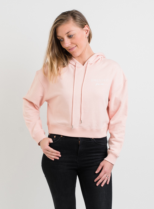 Dressed: Dressed For Me Winter Pale Pink Cropped Hoody - XS