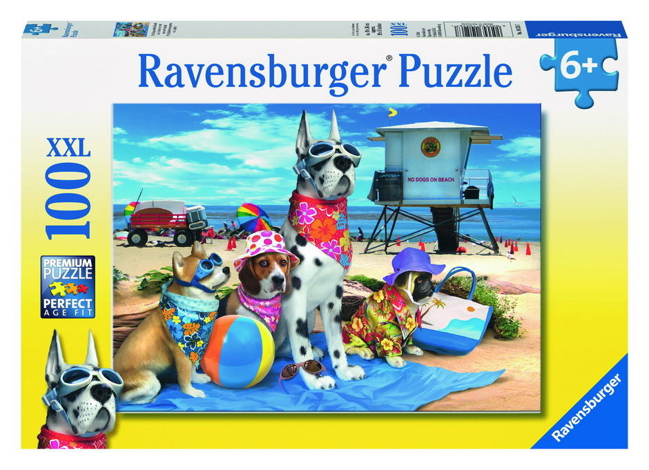 Ravensburger No Dogs on the Beach Puzzle (100pc) image