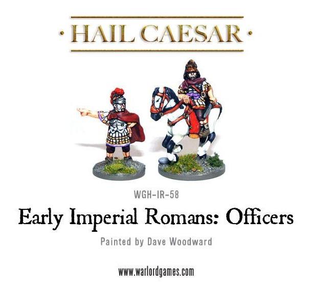 Hail Caesar: Imperial Roman Officers (2pc)