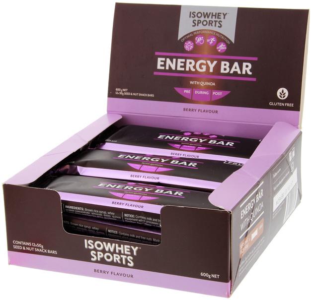 IsoWhey Sports Energy Bar - Berry (12x50g)