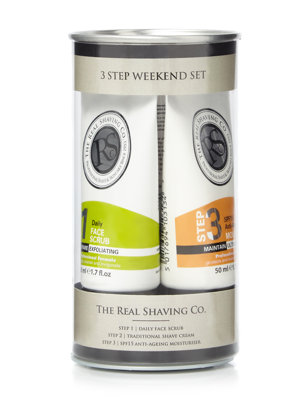 Real Shaving Co.: 3 Step Set (Scrub, Shave Cream + Moisturiser)