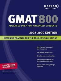 Kaplan GMAT 800: 2008-2009 by Kaplan image