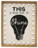 Time to Shine Lightbox Wall Art (54cm)