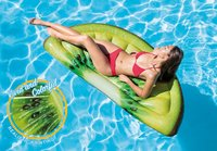 "Intex: Kiwi Slice - Inflatable Lounger (70"" x 33"")"