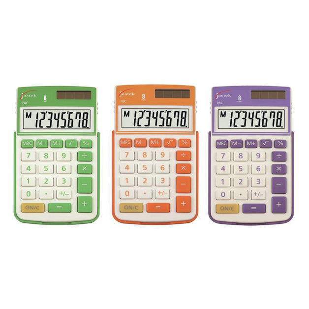 Jastek: Pocket Calculator - Assorted Colours