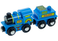 Bigjigs Blue Engine Train