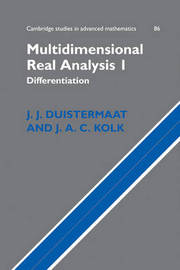 Multidimensional Real Analysis: v.1 by J.J. Duistermaat