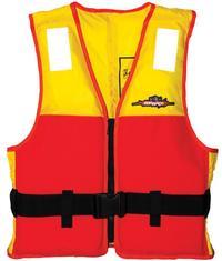 Menace Hercules Sports Life Jacket Adult | Size: Large (Yellow/Red)