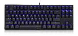 Ducky One TKL Red Cherry MX Switch Mechanical Keyboard - Blue LED Backlit Black Case