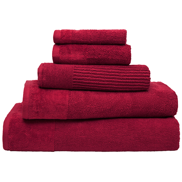 Bambury Costa Cotton Hand Towel (Raspberry)