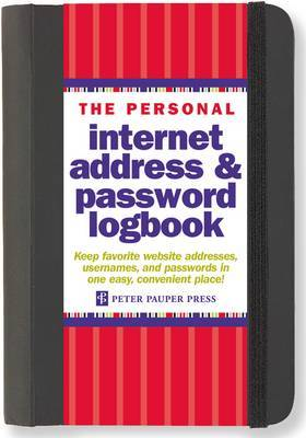 The Personal Internet Address & Password Logbook (Black, Small)