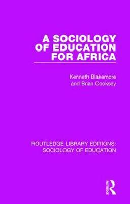 A Sociology of Education for Africa by Kenneth Blakemore image