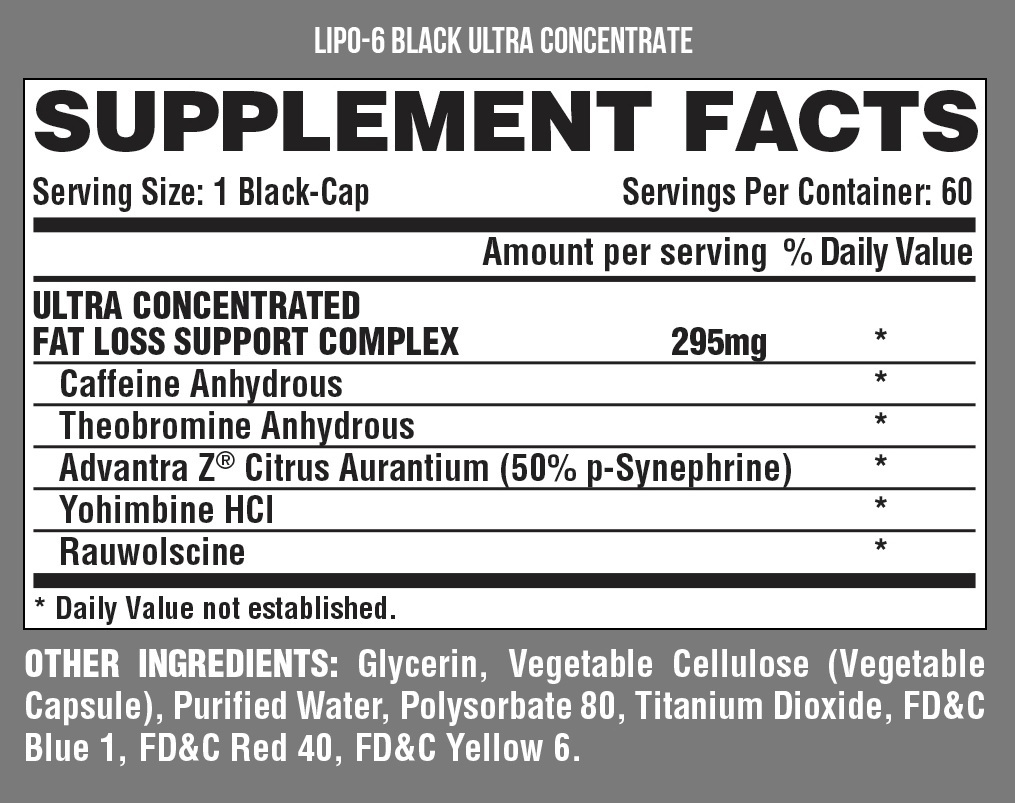 Nutrex Research Lipo 6 Black Ultra Concentrate image