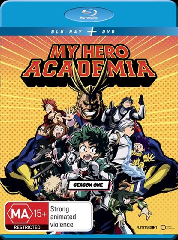 My Hero Academia Season 1 on DVD, Blu-ray