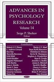 Advances in Psychology Research: Volume 14 image