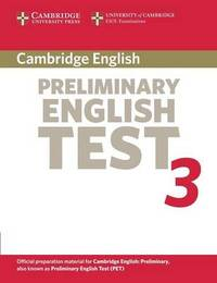 Cambridge Preliminary English Test 3 Student's Book by Cambridge ESOL image