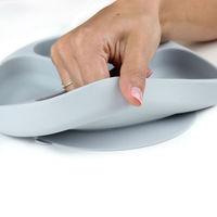 Bumkins: Silicone Grip Dish - Grey image