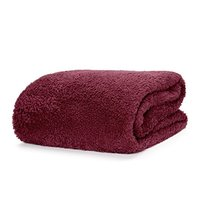 Snug Rug Sherpa Throw Blanket - Mulberry Red