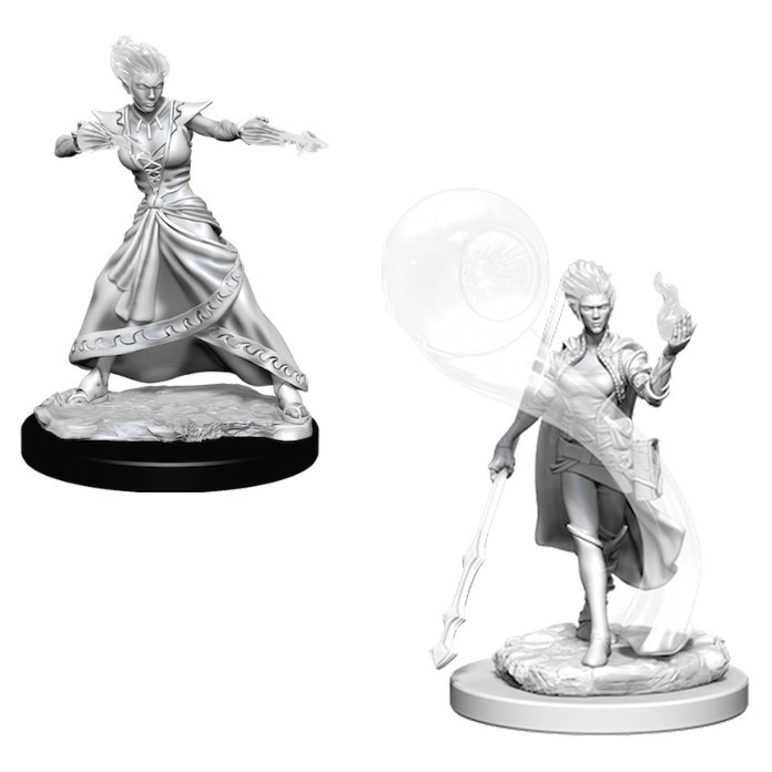 D&D Nolzur's Marvelous: Unpainted Miniatures - Fire Genasi Female Wizard image
