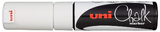 Uni Chalk Marker Chisel Tip - White