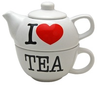 I Love Tea - Teapot and Cup Set