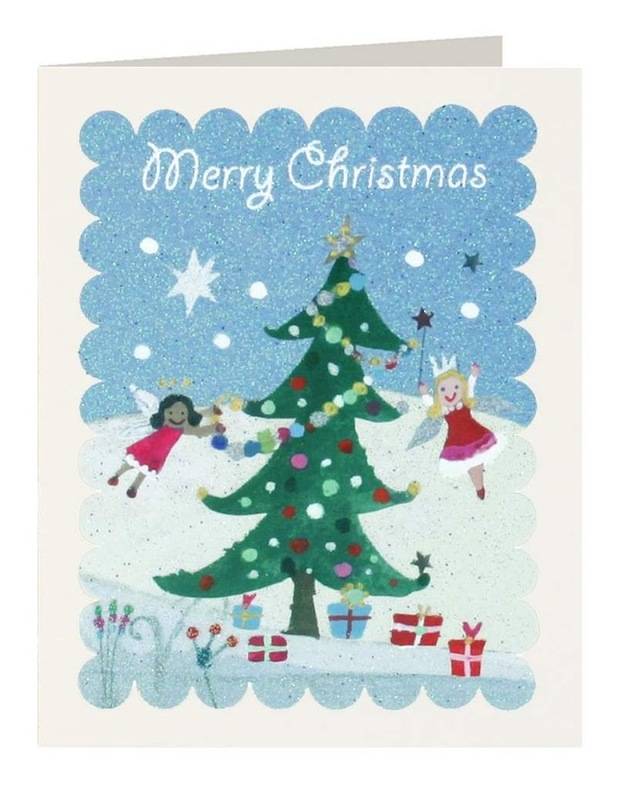 Fairies & Tree Merry Christmas Tags (Pack of 5)