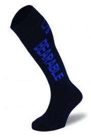 BRBL: Vancouver Kids Navy Ski Socks- 2pk (XS)
