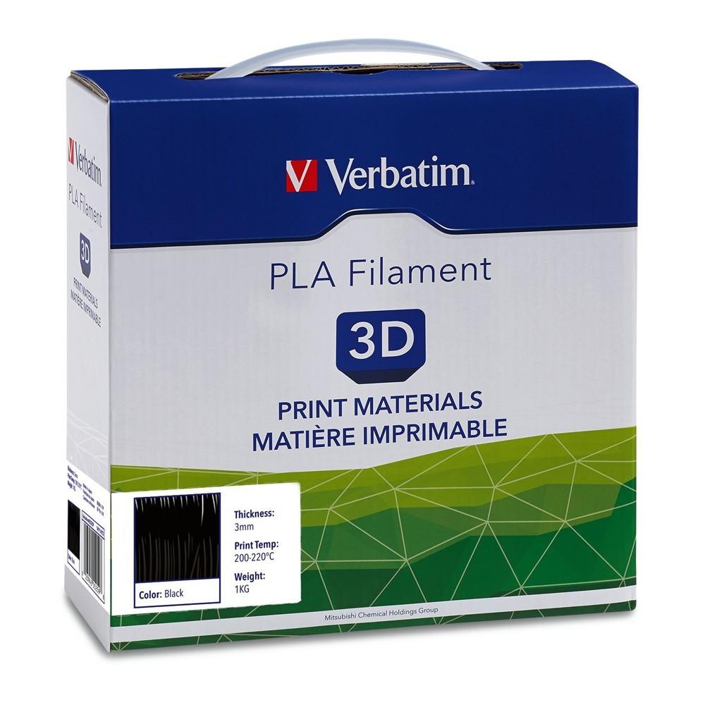 Verbatim 3D Printer PLA 3.00mm Filament - 1kg Reel (Black) image