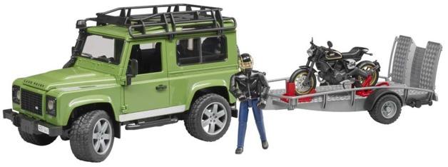 Bruder: Land Rover & Ducati Café Racer