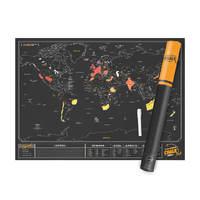 Luckies Scratch Map - Chalk Edition