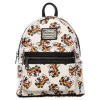 Loungefly: Mickey Mouse - Mickey Rainbow Print Mini Backpack image