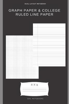 Graph paper & college ruled line paper by Gail Notebooks image