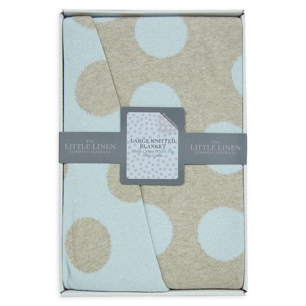 Little Linen: Cotton Cot Knit Blanket - Windsor
