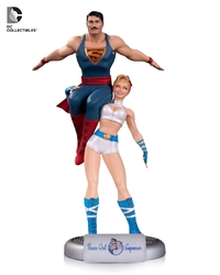 DC Bombshells - Power Girl & Superman Statue
