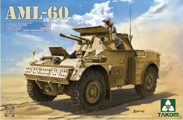 Takom 1/35 French Light Armoured Car AML-60 Model Kit image