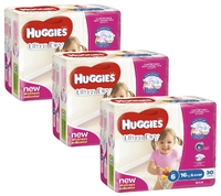 Huggies Ultra Dry Nappies Bulk Shipper - Junior Girl 16+kg (90)