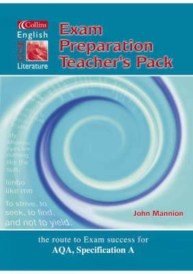 Collins GCSE English and Literature: Exam Preparation Support File by John Mannion