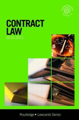 Contract Lawcards: 2010-2011 by Routledge Chapman Hall image