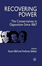 Recovering Power by Anthony Seldon