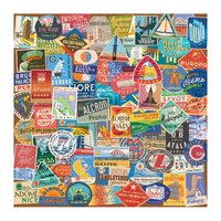 Galison: 500 Piece Puzzle - Vintage Travel Luggage Labels image