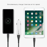 Momax 45W Fast Charging Car Charger - White image